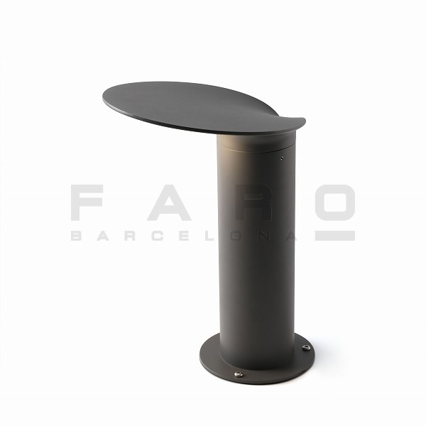 FA71224  LOTUS Dark grey beacon lamp h35cm